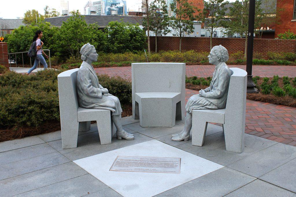 Rosa Parks portrait sculpture at Georgia Tech Continuing the Conversation.