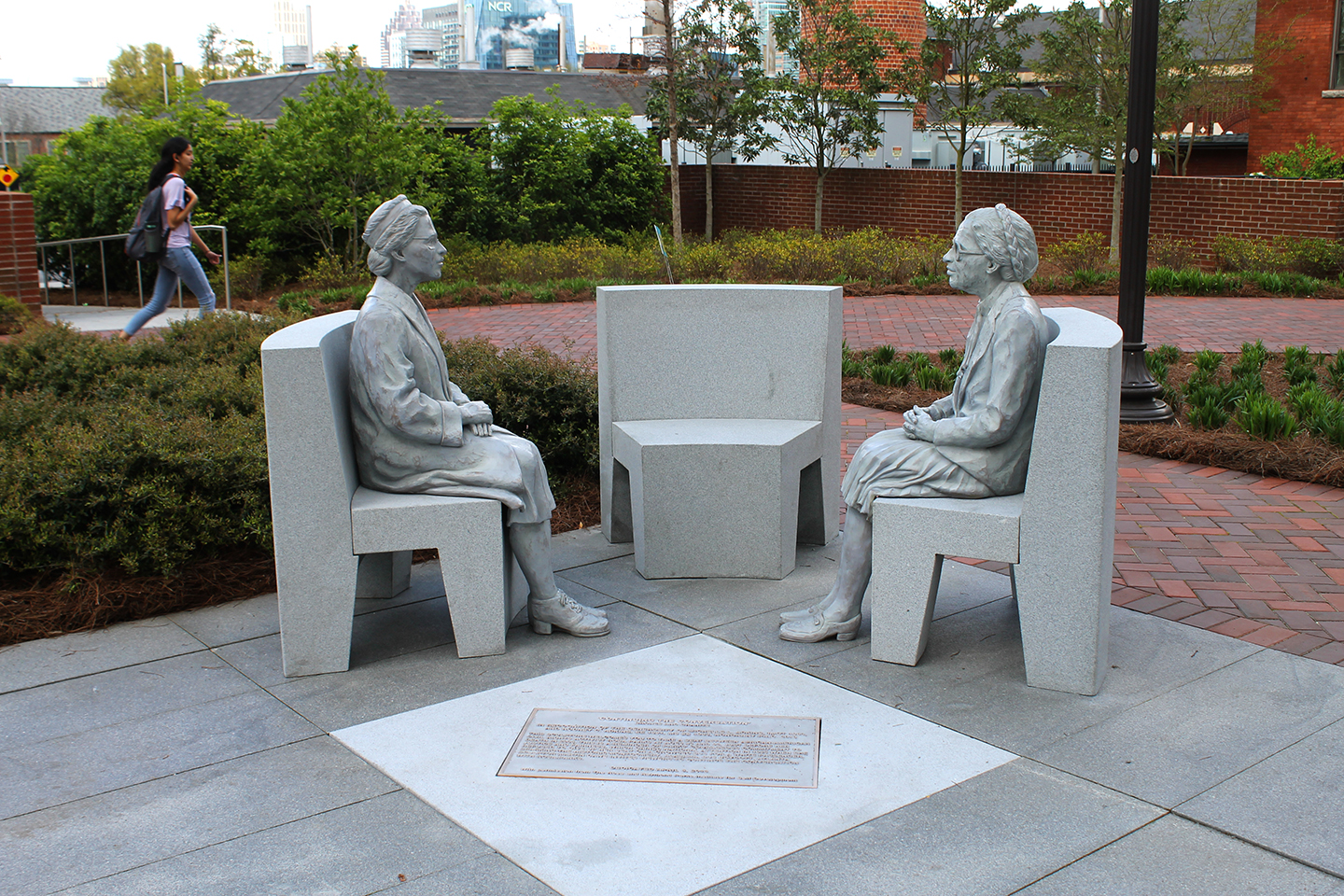 Rosa Parks portrait sculpture at Georgia Tech Continuing the Conversation.
